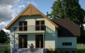Engineering studio LAND & HOME Construction ready-made classic Bauska 2 house project with an attic
