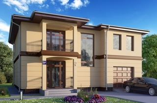 Alfa 1 Standard Two-Story Home Plan architectural company LAND & HOME Construction