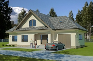 Engineering bureau LAND & HOME Construction Sigulda Standard Home Plan with an Attic Floor