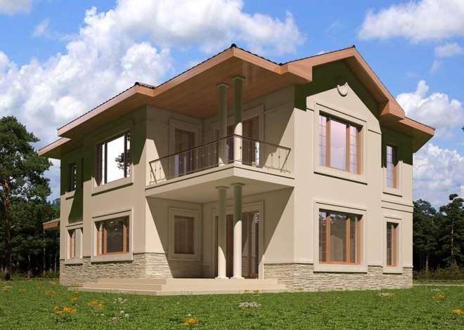 Michele Ready-Made Classical Style Two-Story House Plan gatavieprojekti.lv