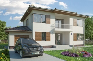 Standard two-story modern Rimini 2 house project architectural project LAND & HOME Construction