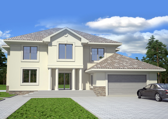 Patrick Standard Home Plan Of A Classical Two Story House