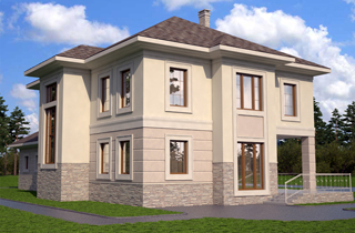 Architectural company LAND & HOME Construction Albert Ready-Made Classical Style Two-Story House Plan