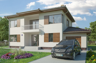 Ready-made two-storey Rimini country house project engineering company LAND & HOME Construction