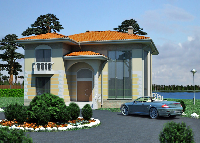 Ready-made project for a two-storey Vincent 3 private house architectural company LAND & HOME Construction