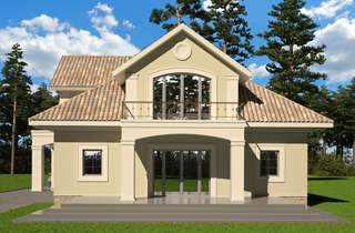 Architectural bureau LAND & HOME Construction ready-made one-storey Donald house project with attic