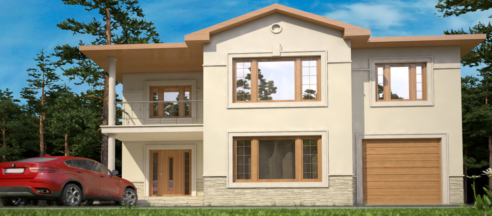 Toulon 4 Standard Classical Two-Story House Plan engineering bureau LAND & HOME Construction