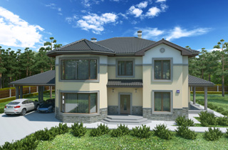 Michele 2 Ready-Made Two-Story House Plan architectural studio LAND & HOME Construction